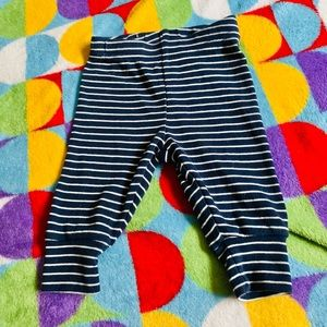 Boys blue and white striped pants